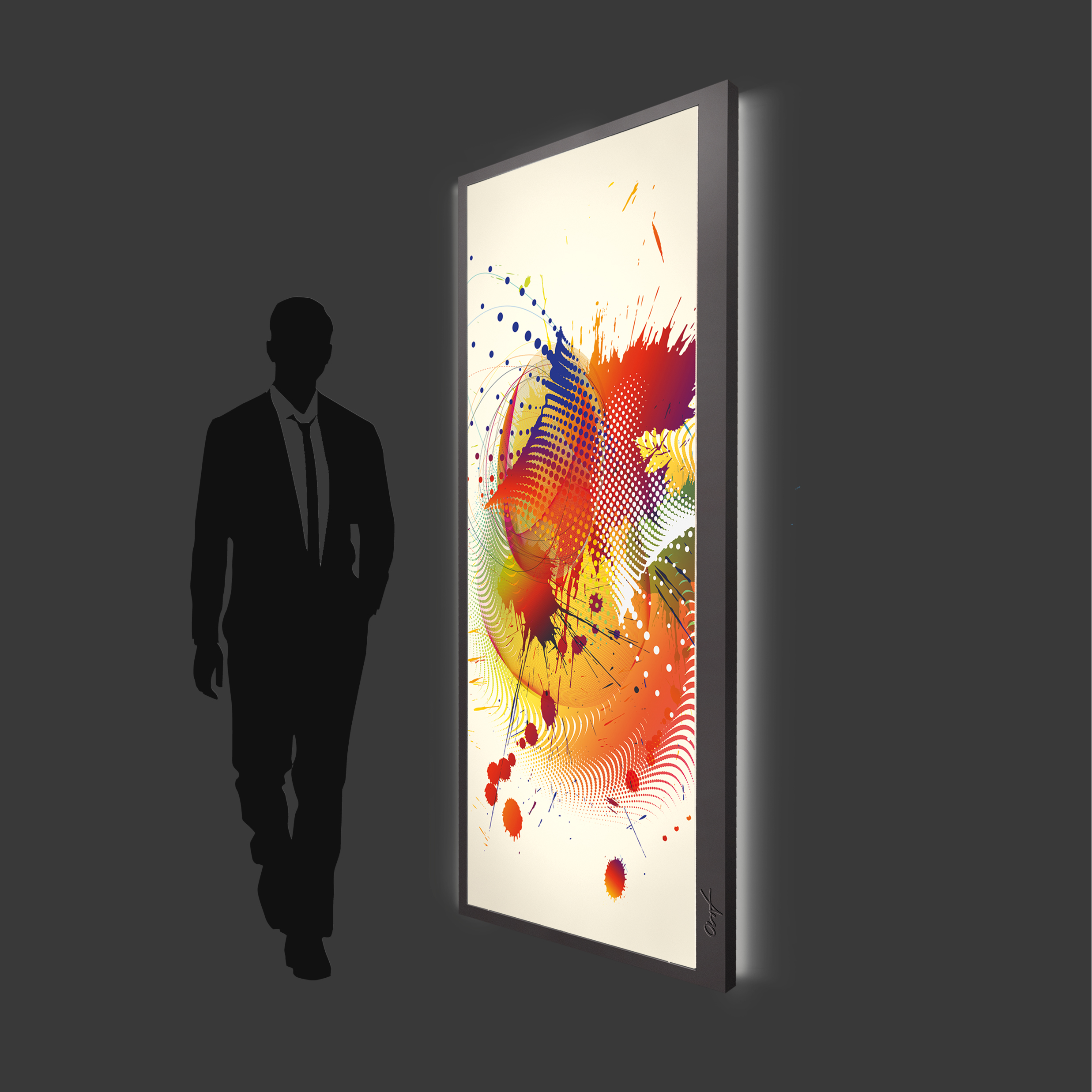 Design Leuchtbild XL vertikal
